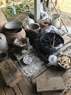 炭火を調理に使う