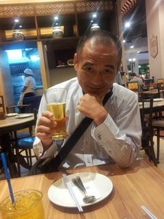 中華料理屋でビール