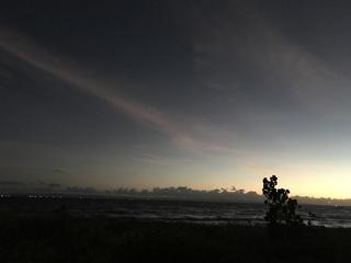 幻想的な夕日
