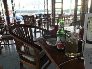 ビールを飲みながらまったり