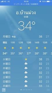 10時の気温