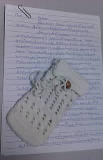 ジンタナーさんからの手紙と手編みの携帯電話ケース