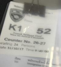 K1の番号札