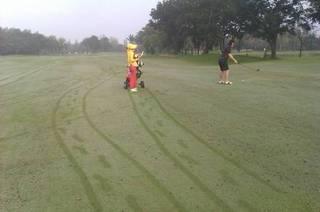 幸せ実践塾−傷つきやすい、内気、自信がない、を幸せ体質に改善します。-朝露の中のゴルフ